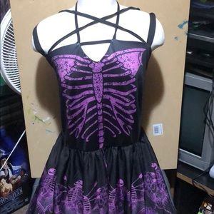 🎉NWT Skeleton Dress from Rosegal Black and Purple